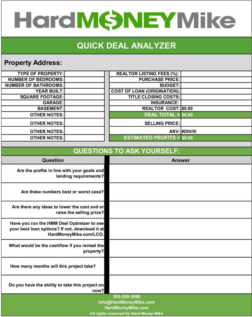 Quick Deal Analyzer